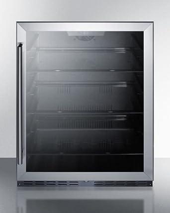summit al57g built in undercounter ada compliant all refrigerator with glass door black amazon com  summit al57g built in undercounter ada compliant all      rh   amazon com