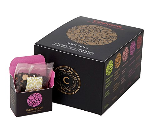 Gift Cube (Mini Cube Variety Tea Gift Pack (20 Individually Wrapped Mesh Bags))