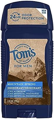 Tom's of Maine Long-lasting Mountain Spring Men's Natural Deodorant,