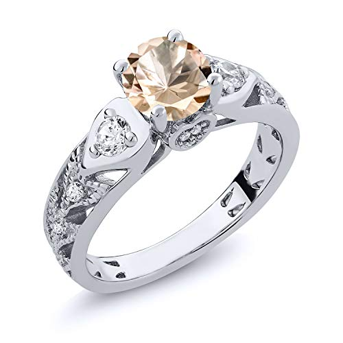 Gem Stone King 925 Sterling Silver Peach
