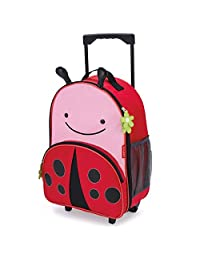 Skip Hop Zoo Little Kid & Toddler Rolling Luggage, Livie Ladybug