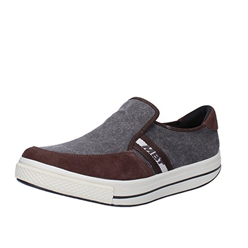 MBT Sneakers Herren 42 EU Grau / Braun Textil / Wildleder