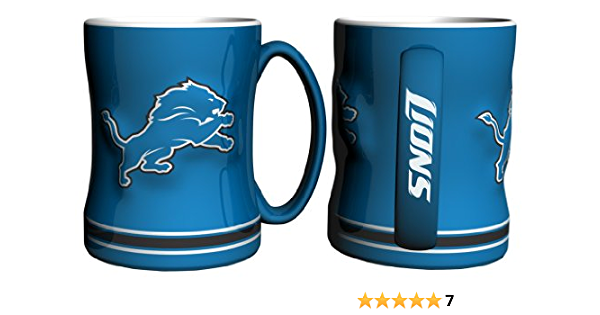 Detroit Lions Coffee Mug 14oz Sculpted Relief