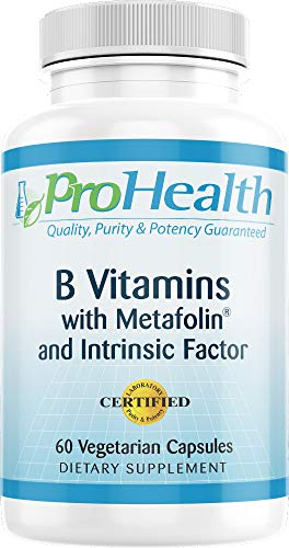 ProHealth B Vitamins with Metafolin & Intrinsic Factor – (60 Vegetarian Capsules)