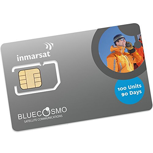 Sim Free Mobile Handset - BlueCosmo Inmarsat IsatPhone 100 Unit Prepaid SIM Card for IsatPhone Pro and IsatPhone 2 Satellite Phones
