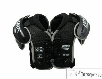 Bike Xtreme Lite BYSH70 Youth football shoulder pads XL 140 -159 lbs (Black Football Shoulder Pads)
