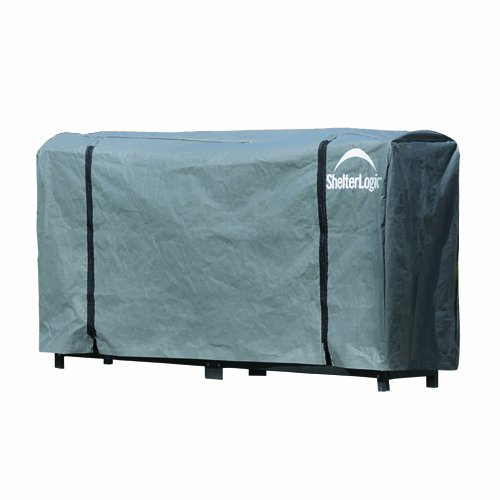 8' Rack (ShelterLogic Universal Firewood Storage Rack, Full Length Cover)