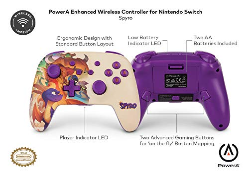 PowerA Enhanced Wireless Controller for Nintendo Switch - Spyro 6