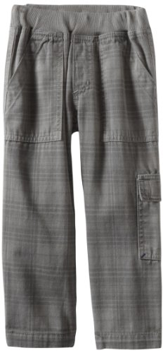 Charlie Rocket Little Boys' Rib Waist Cargo Plaid Pant