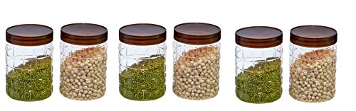 Steelo Solitaire Series Plastic Jars   900ml, 6 Pieces, Multicolored