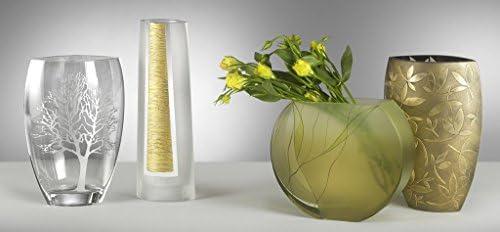 Badash Evergreen Circle Glass Vase