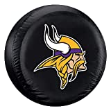 Fremont Die NFL Minnesota Vikings Unisex Tire Coverminnesota Vikings Tire Cover Black, Standard Size