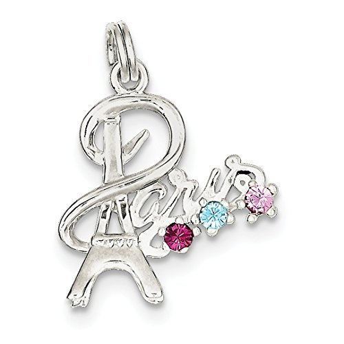 ICE CARATS 925 Sterling Silver Paris Multi Color Preciosa Crystal Pendant Charm Necklace Travel Transportation Fine Jewelry Ideal Gifts For Women Gift Set From Heart -