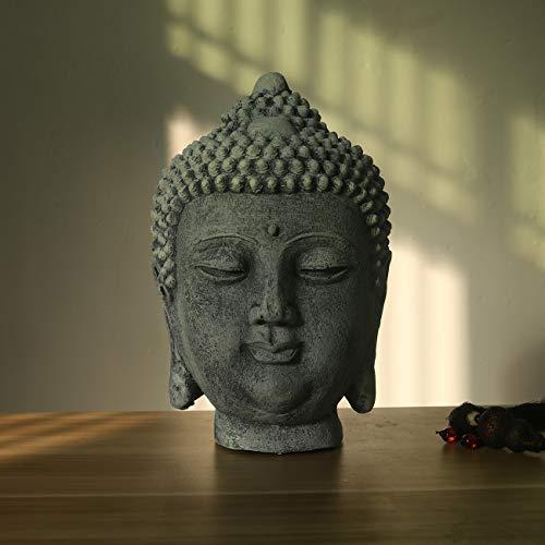 NBHUZEHUA Outdoor Garden Large Buddha Head Statue Resin Shakyamuni Gautama Sculpture Art Decor Fengshui Gifts