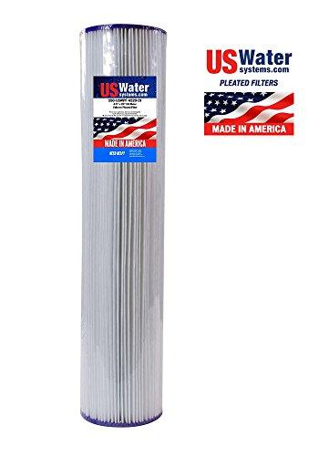 "US Water 4.5"" x 20"" Pleated Filter Cartridge 1 Micron"