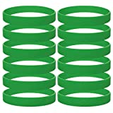 GOGO 12 PCS Silicone Wristbands, Adult Rubber Bracelets, Party Accessories-KellyGreen