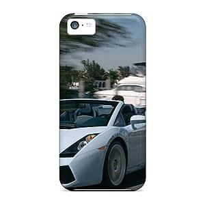 High Quality AbbyRoseBabiak Lamborghini Speeding By A Marina Skin Cases Covers Specially Designed For Iphone - 5c