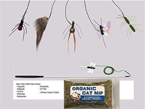 Neko Flies Critter Pack Combo Plus Litterboy Organic Catnip by Neko Flies