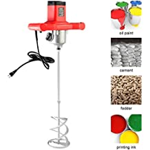 Goplus Electric Mortar Mixer 1600W Handheld Stirring Tool Dual High Low Gear Adjustable 7 Speed Paint Cement Grout 110V
