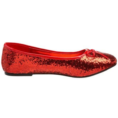 Funtasma STAR-16G STAR16G Damen Stiefel, Glitter Rot, US 7