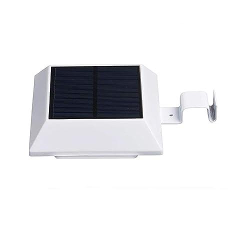 Solar Power Light Sensor Led Panel Lamp White Outdoor Wall Garden Waterproof