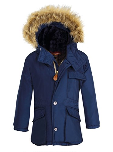 Boy's Winter Coats Insulated Jackets with Fleece Lined Hood