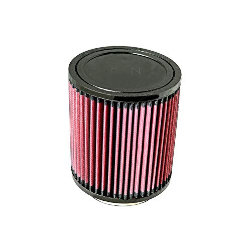 K&N RU-5121 Universal Clamp-On Air Filter: Round Tapered; 4 in (102 mm) Flange ID; 6 in (152 mm) Height; 5.375 in (137 mm) Base; 3.5 in (89 mm) - Neon Intake Air Dodge Filter