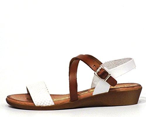 Sandalia piel Oh! my Sandals 3609 Blanco