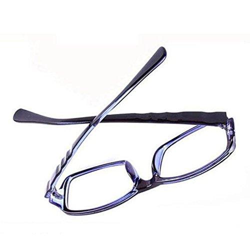 Anizun (TM) Occhiali da vista Frame cornici di alta qualità anti-fatica occhiali computer 2014moda uomo donna occhiali con lenti UV400, Transparent blue