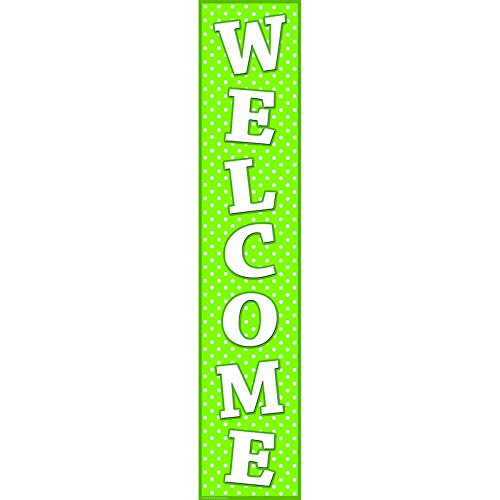 Teacher Created Resources Polka Dots Welcome Banner  Lime  4854