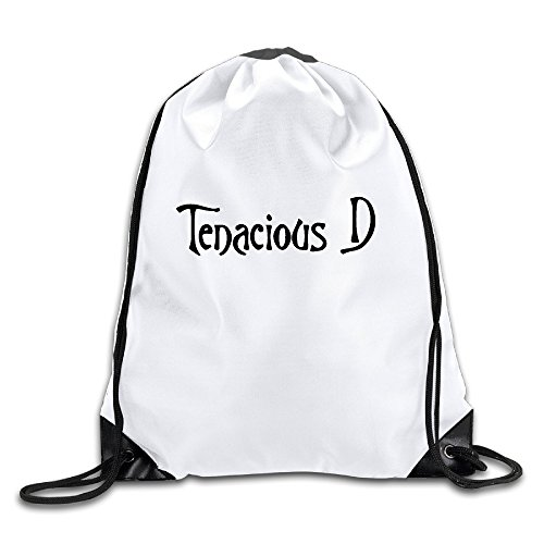 BYDHX Tenacious D Logo Drawstring Backpack Bag White