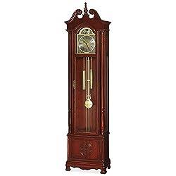 China Furniture Online Rosewood Grandfather Clock, Longevity Motif Red Cherry Finish