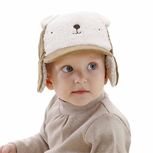 Aviator Khaki (Aivtalk Baby Kids Earflap Winter Warm Hat Pilot Aviator Cap Khaki - S)