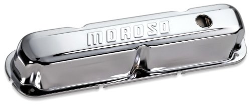 Moroso 68161 Chrome Valve Covers - Set of 2 1970 Plymouth Barracuda Engine