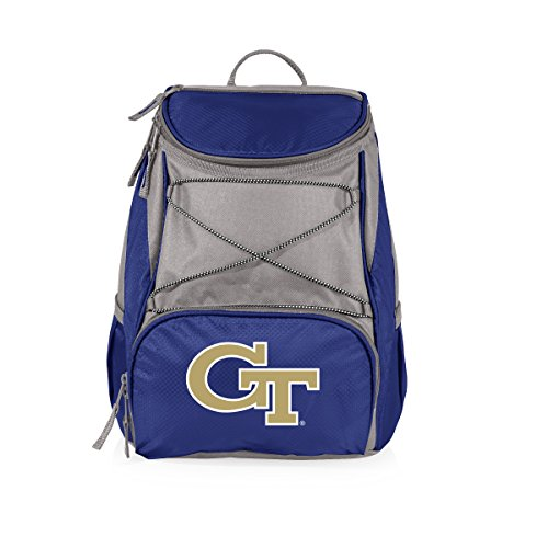 NCAA Georgia Tech Yellow Jackets PTX Insulated Backpack Cooler, Navy