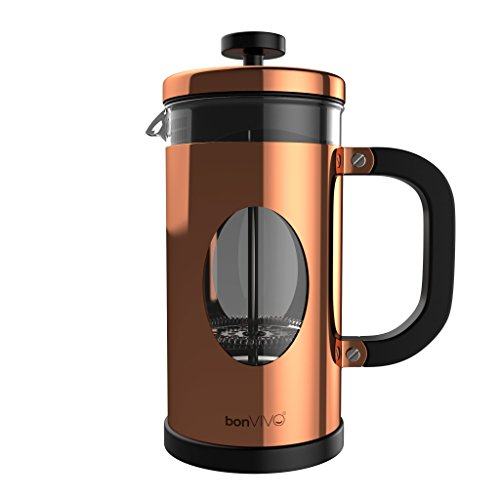Best Buy! bonVIVO GAZETARO I Design French Press Made Of Stainless Steel And Glass In Copper Finish