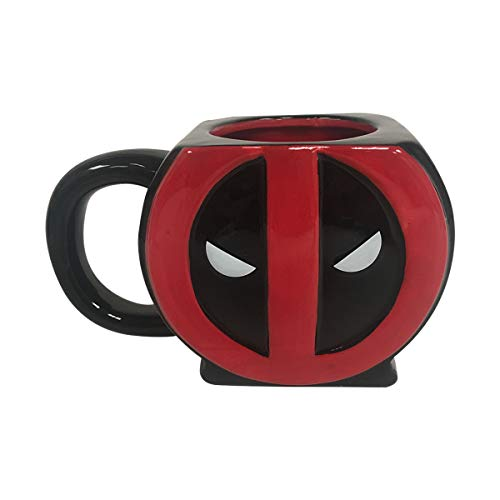Deadpool Sculpted Logo 3D Mug Marvel Dead Pool Wade for sale  Delivered anywhere in USA