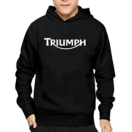 (Men's Mchero Nick Bloor Triumph Motorcycle Logo Hoodie Black)