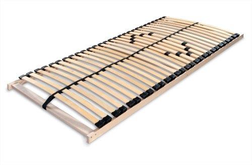 Betten-ABC Lattenrost MAX 1 NV MZV, zur Selbstmontage, mit 28 stabilen und flexiblen Federholzleisten und durchgehenden Holmen, mit Mittelzonenverstellung im Beckenbereich, Größe: 90 x 200 cm