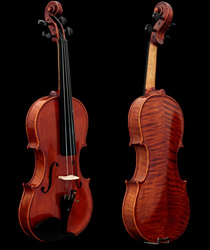 Sky Guarantee Mastero Sound Copy of Stradivarius 4/4 Size Professional Hand-made Two-piece Back 4/4 Full Size Acoustic Violin Antique Style Ebony Part…