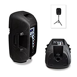 Pyle Powered Active PA Loudspeaker System - 10 Inch Sub woofer  Monitor Built in USB for MP3 Amplifier - DJ Speakers Party Sound Equipment Stereo Amp Sub for Concert Audio or Band Music (PPHP103MU)
