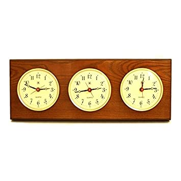 Multizone Clock with 3 Plates Color: Oak
