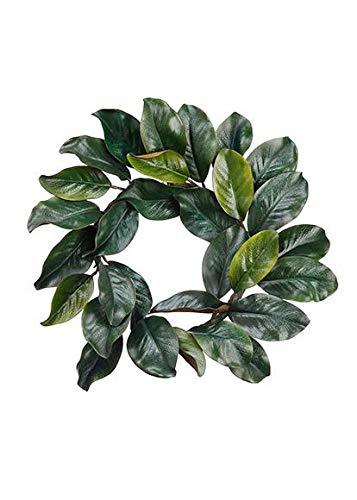 Artificial Magnolia Leaf Wreath - 18