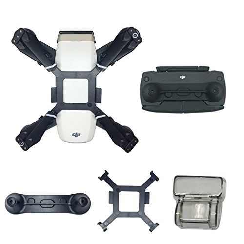 HeiyRC 3packs Accessories for DJI Spark ,Gimbal Holder Camera Lens Cover Cap,Propeller Mount Bracket and Joystick Guard Protector