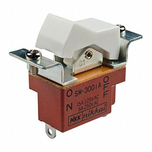 SWITCH ROCKER SPST 15A 125V (Pack of 10) (SW3001A) by NKK Switches