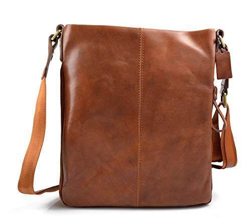 Amazon.com  Leather shoulder bag mens women messenger leather satchel  crossbody leather postman bag brown hobo bag sling leather bag  Handmade 308896926d9d2