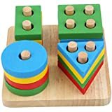 Wooden Puzzle toy Educational DIY Baby Toys Wooden Geometric Sorting Board Montessori Kids Educational Toys Building…