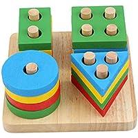 لعبة الغاز خشبية تعليمية للاطفال يمكنك تركيبها بنفسك بتصميم لوحة مونتيسوري لتصنيف الاشكال الهندسية الخشبية تصلح كهدية…