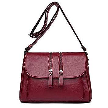 7109c65d86c4 Bloomerang Female Bags 2018 New Double Zipper Women Messenger Bags Soft  Women  Amazon.in  Bags