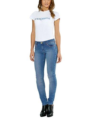 Oranjeans – Pantalon vaquero Pitillo Mujer Cintura Media 5 bolsillos